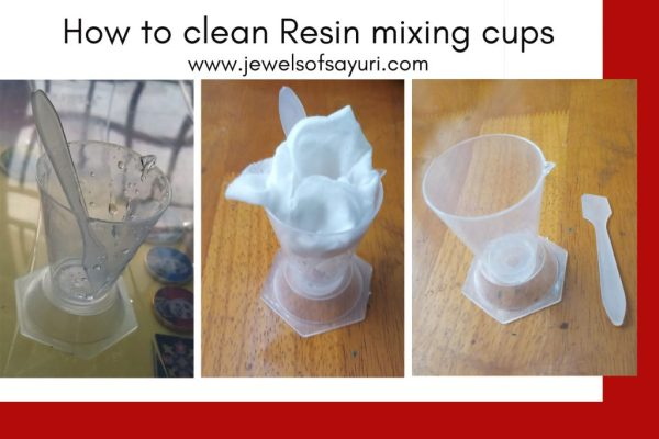 How to clean Resin mixing cups