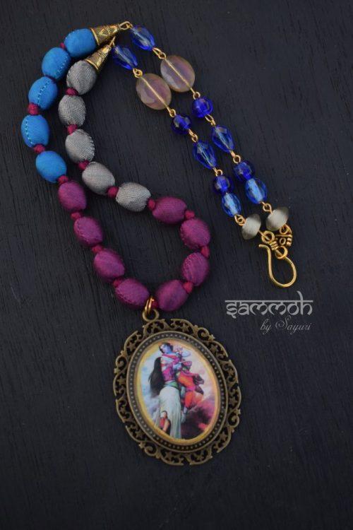 Radheshyam silk necklace