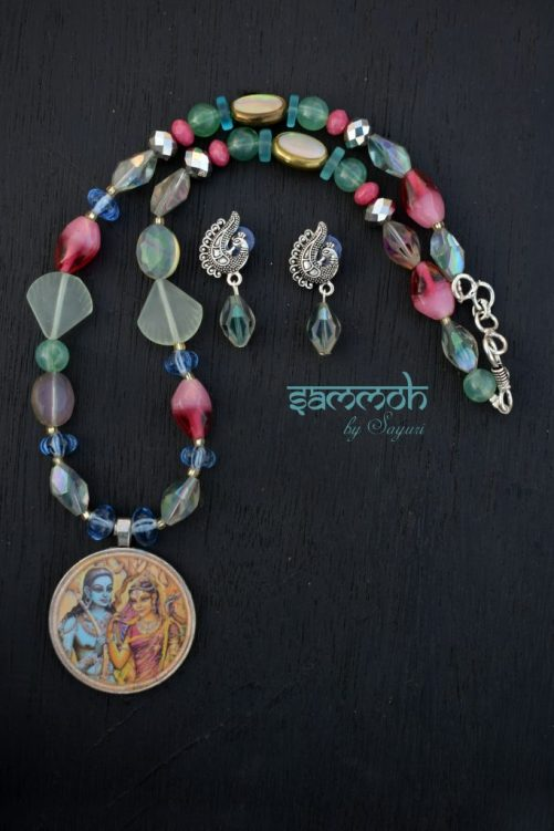 ram sita necklace necklace from Sammoh beaded jewelry