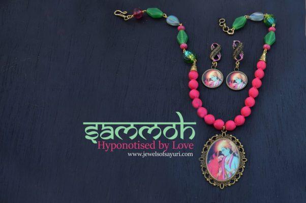 Ram sita silk bead necklace