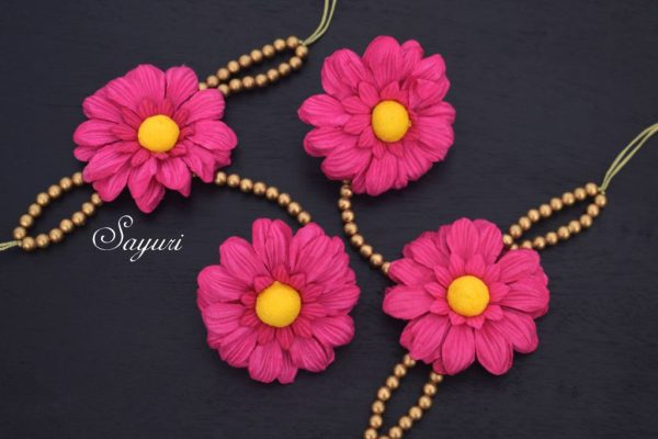 Sunflower Baby Shower Jewellery In Pink And Gold Jewels Of Sayuri