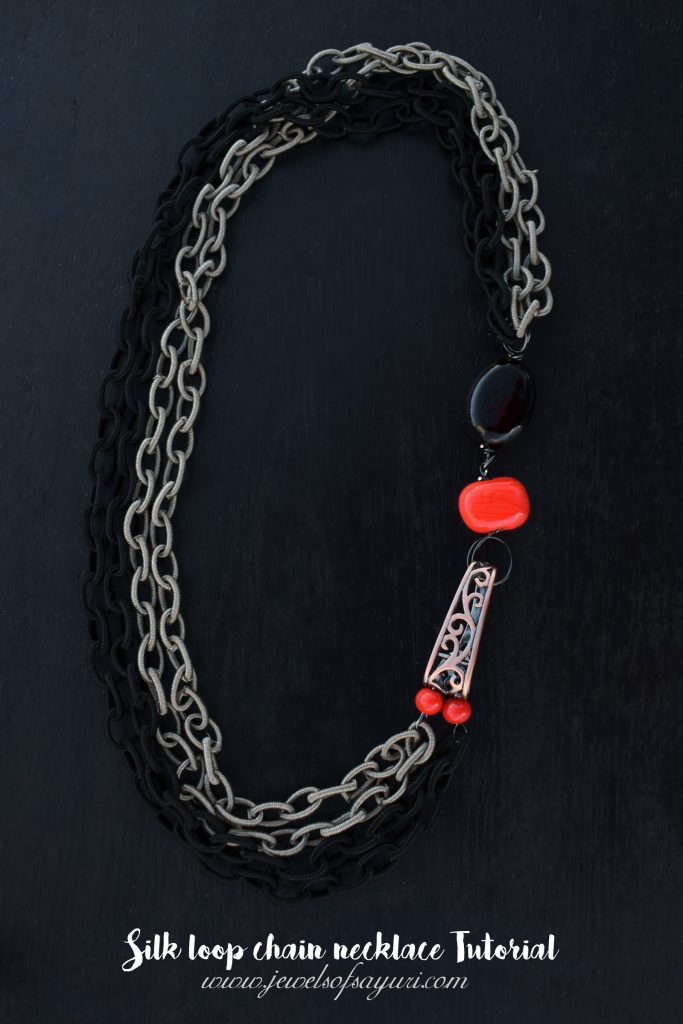 Silk loop chain necklace Tutorial