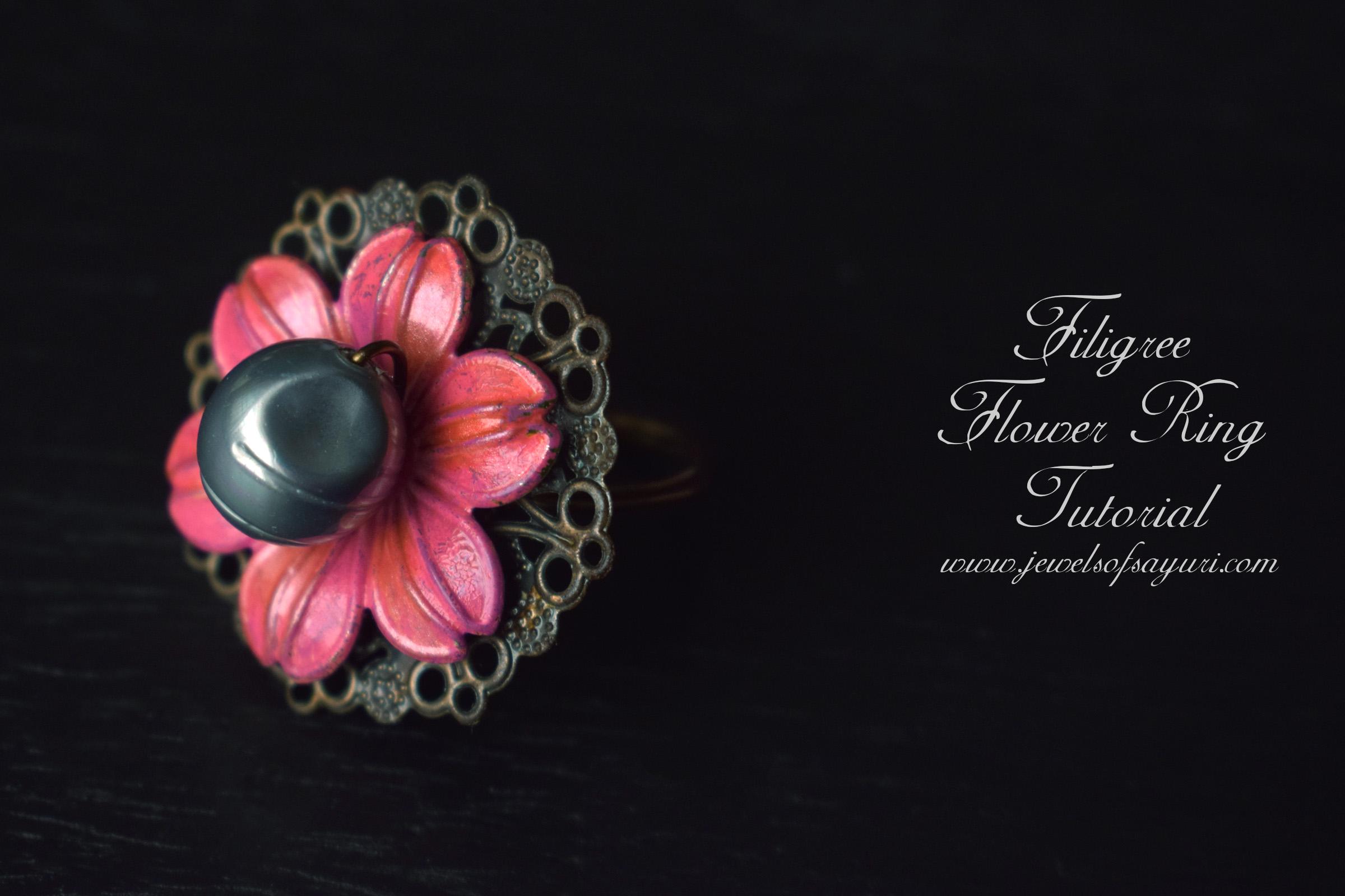 Filigree Flower Ring Tutorial
