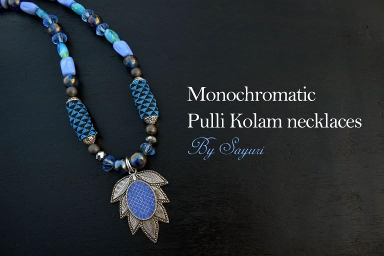 Monochromatic Pulli Kolam