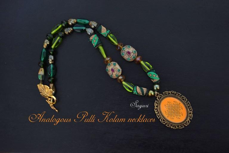 Analogous Pulli Kolam necklaces