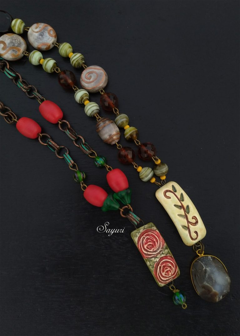 dark floral necklaces for ABS Art Journey