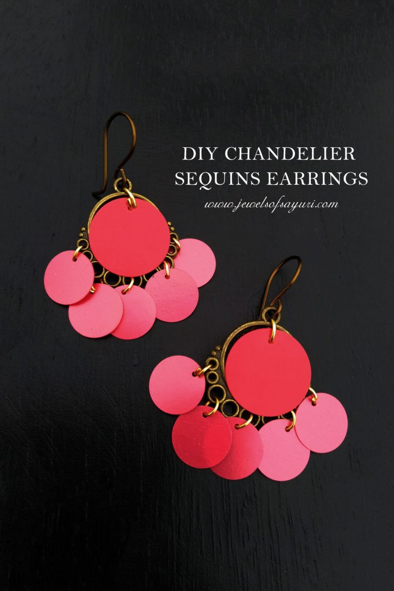 DIY sequins chandelier earrings