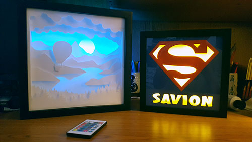 My early lightbox and shadow box art creations.
