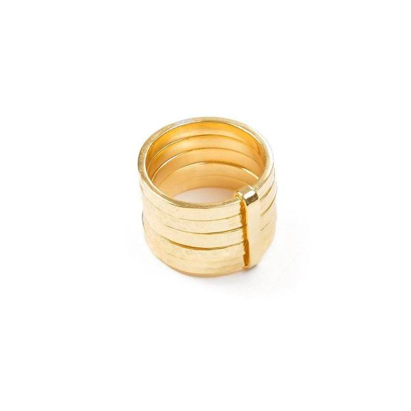 Ring - 5STACK RING  18ct Gold Vermeil