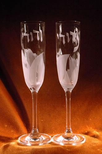 Ani L Dodi Wedding Flute Glasses By Steve Resnick
