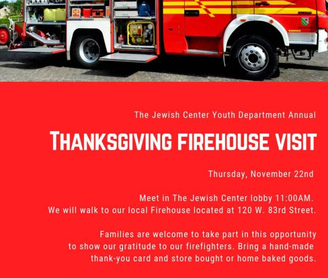 Annual Thanksgiving Firehouse Visit