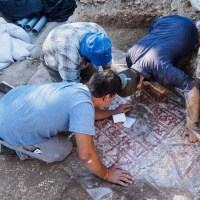 Emperor Justinian Mosaic Inscription Unearthed near Damascus Gate