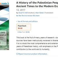 Barnes & Noble is Selling Assaf Voll's Palestinian History Book