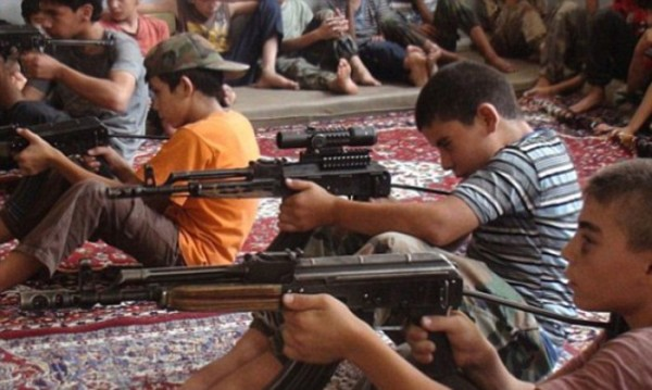 ISIS children training.