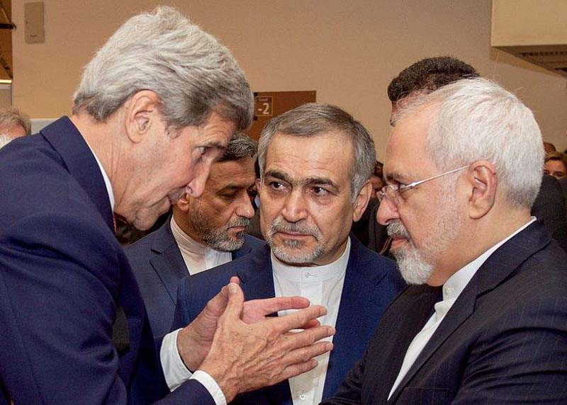 Image result for images John Kerry and Zarif