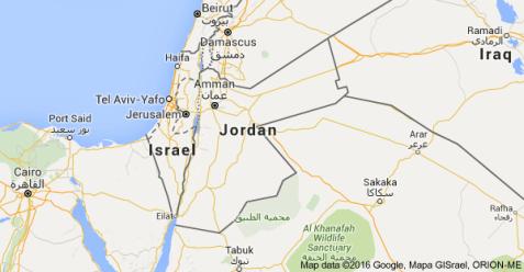 Jordan Regional Map