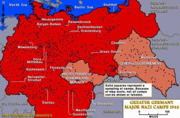 Map of Nazi Camps in Greater Germany  1944  Sources  U S  Holocaust Memorial Museum