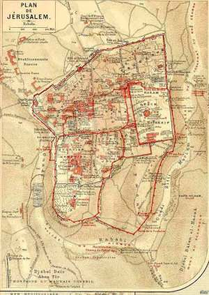 Map of Jerusalem (1900)