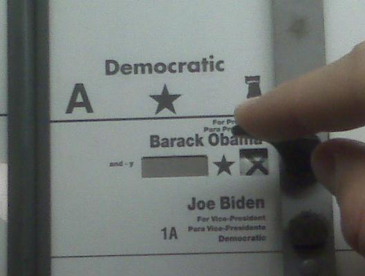 Dedo judio votando por Obama