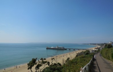 Bournemouth beach, taken from the East Cliff