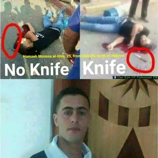 israel planting knives after they kill palestinians