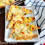 Corn capsicum cheese toast