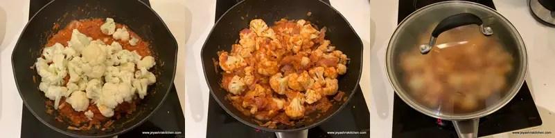 Cauliflower masala recipe