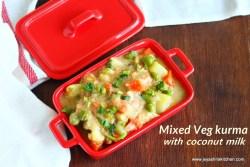 Mixed veg with coconut milk