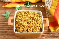 Methi leaves rice