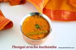 Thengai aracha kuzhambu