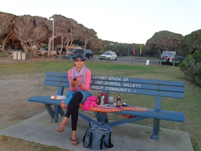 Living the dream: Dinner in a park in Australia 2014