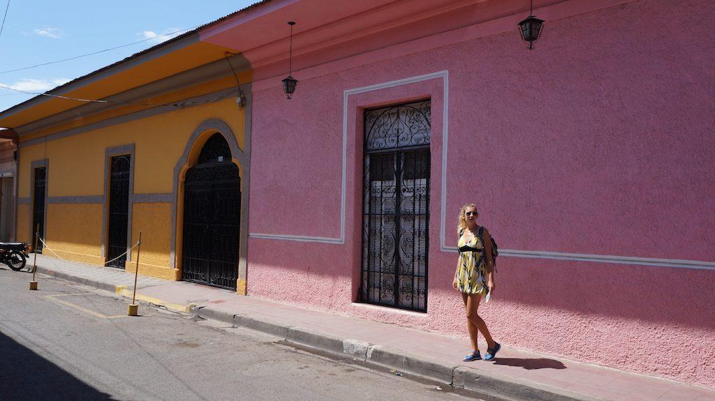 Colourful buildings in Granada's Centre