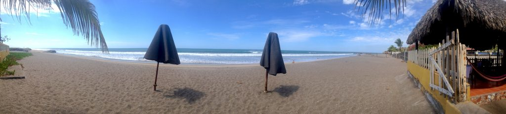 Las Peñitas has a huge and broad beach with not many tourists!