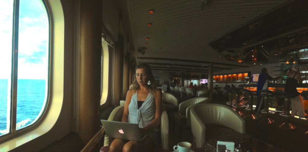 Being productive during our Nomad Cruise.