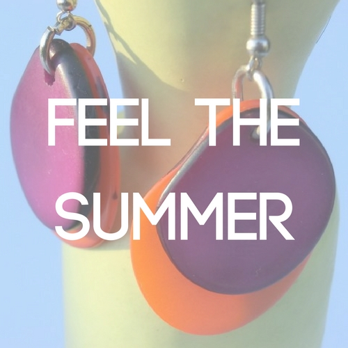 jeyjetter.com: Trendy chic two coloured Earrings from Mallorca