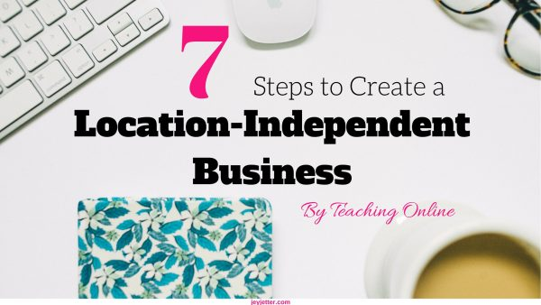 Teaching Online as a form of location-independent business option
