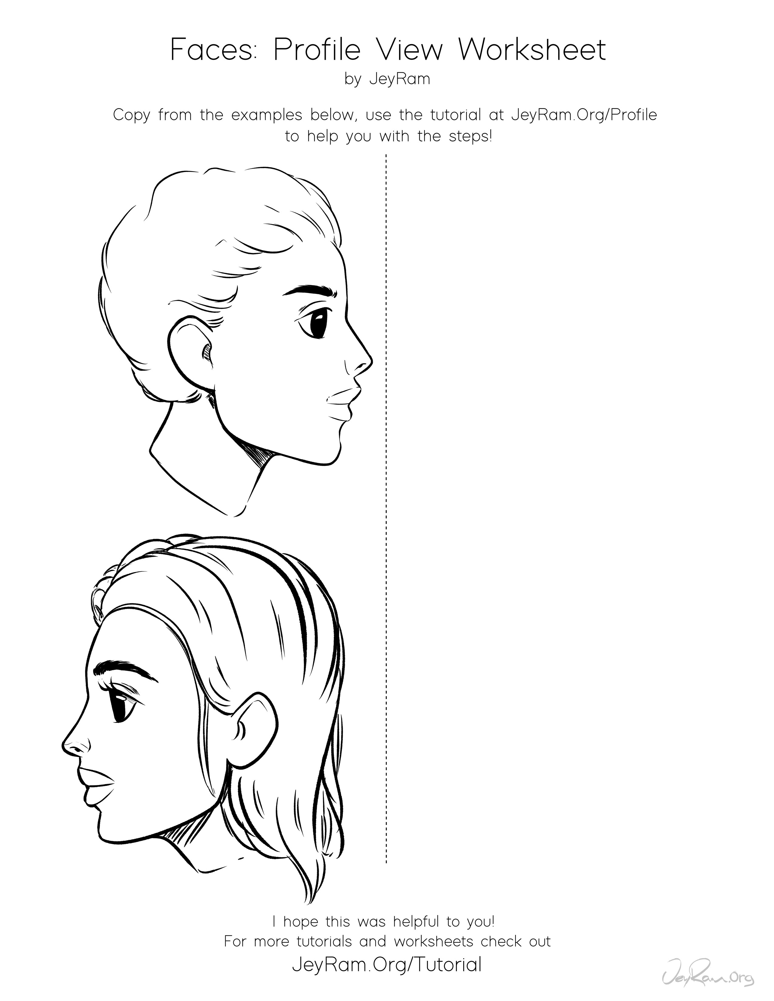 How To Draw Faces Side View Free Worksheet Amp Tutorial