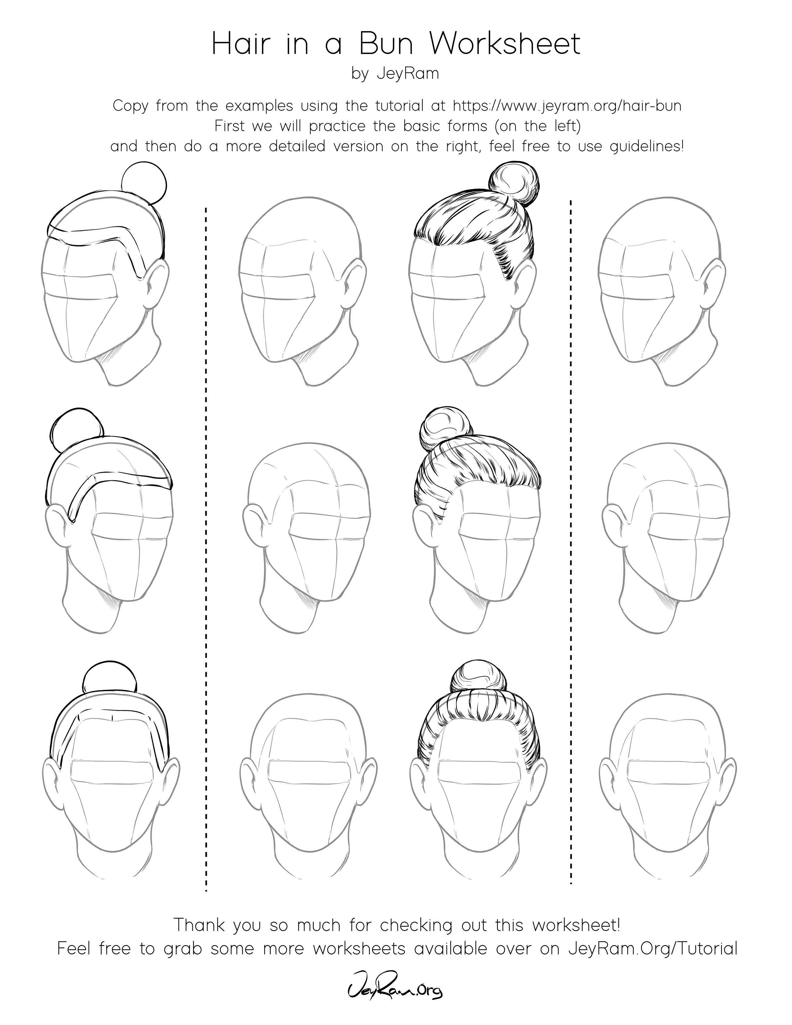 How To Draw Hair In A Bun Easy Tutorial For Beginners