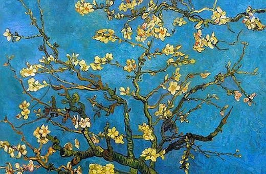 JEZT - Rainer Sauer - 17 Tage Europa - Vincent van Gogh - branches with almond blossom - Aeste mit Mandelblueten