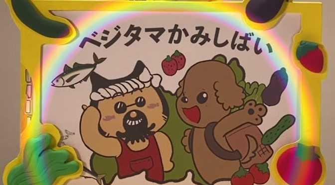 久々のタマ三郎出張!平塚市へ「べジタマ紙芝居」寄贈を東海大学生が報告♪