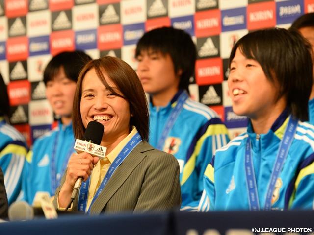 FIFA U-17女子ワールドカップ コスタリカ 2014 U-17日本女子代表が帰国、優勝報告記者会見に出席|JFA|公益財団法人日本サッカー協会