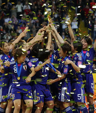 Japan clinched the FIFA Women's World Cup for the first time by edging the United States 3-1 on penalties after battling to a 2-2 extra-time draw in the final of the quadrennial tournament on Sunday in Frankfurt, Germany.