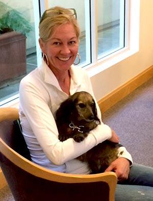 Canine Corps Volunteers Lindsay Joost and Luna