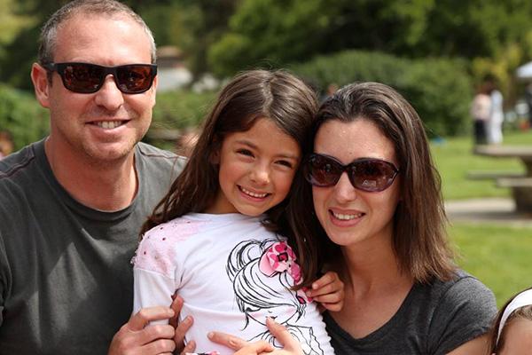 Lenny Semis, Irina Berkon and their daughter, Isabella
