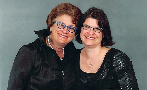 Laura Robbin and her friend and fellow community leader, Alison Ross