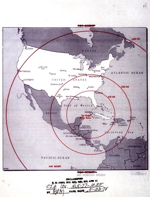 Cuban Missile Crisis Missile Strike Map