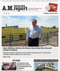 Noozhawks NEW A.M. Report - RSS feeds and Dynamic Ad drive this new version of their ebulletin.