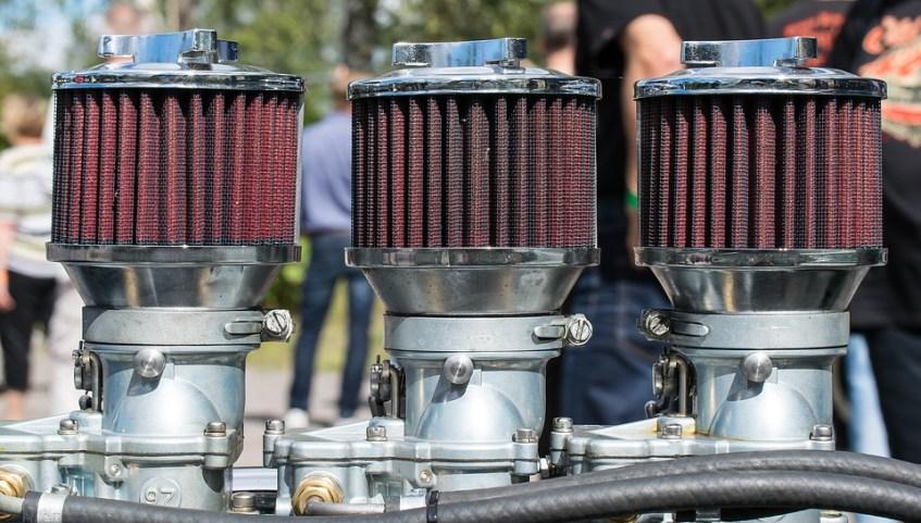Carburetor with 3 air cleaner