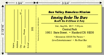 Fundraiser Ticket Template. spaghetti dinner tickets with a ...