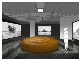 Installation drowing by Fuminori Nousaku (2019), ©Fuminori Nousaku, Coutesy of Fuminori Nousaku